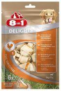 8in1 Delights  S Косточка для собак мелких и средних пород (6*11 см)