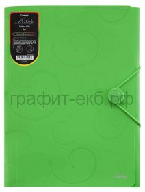 Папка А4 на резинках Comix Melody зеленая А1544