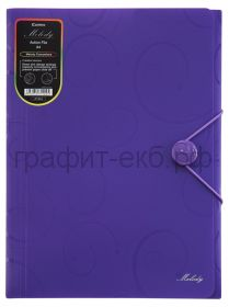 Папка А4 на резинках Comix Melody фиолетовая А1544