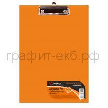 Папка-доска А4 Lamark 2мм оранжевая 141