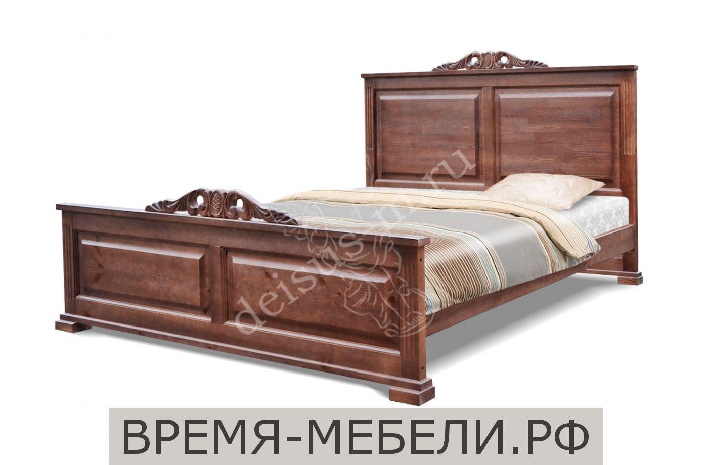 Кровать Грация-М с резьбой