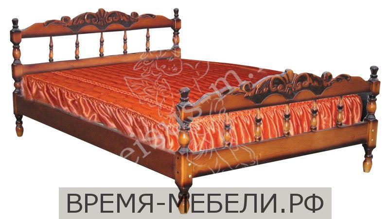 Кровать Точеная-М горка с резьбой