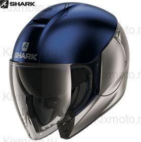 Мотошлем Shark CityCruiser Dual, Сине-Серебряный