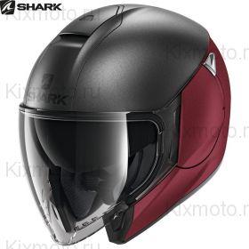 Мотошлем Shark CityCruiser Dual, Серо-красный