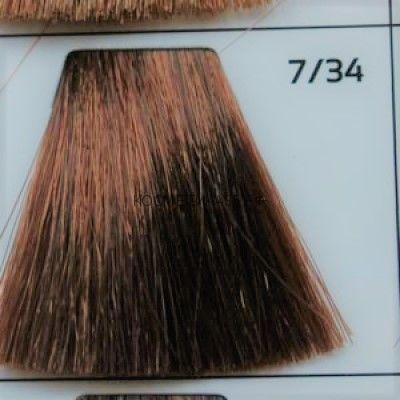 Крем краска для волос 7/34 Русый Золотисто-медный 100 мл.  Galacticos Professional Metropolis Color
