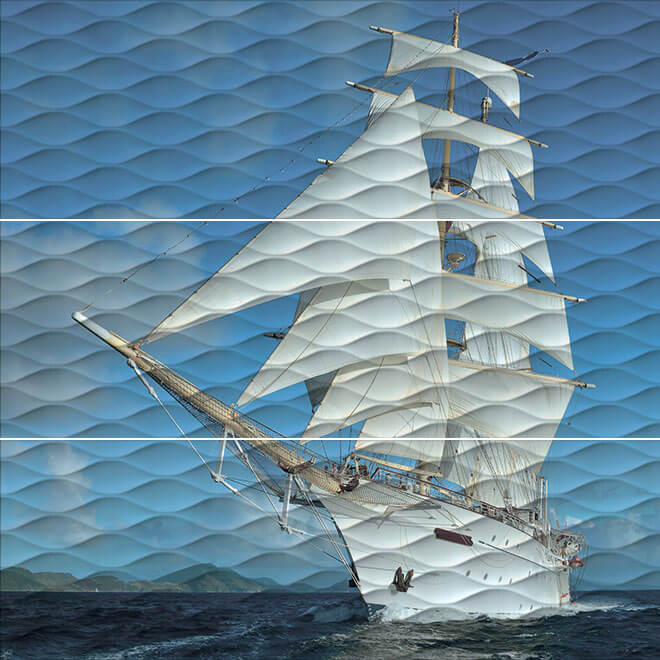 ALD/A01/3x/13025R | Панно Майори Корабль обрезной