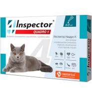 Инспектор Quadro  Капли от внешних и внутренних паразитов для кошек 4-8 кг