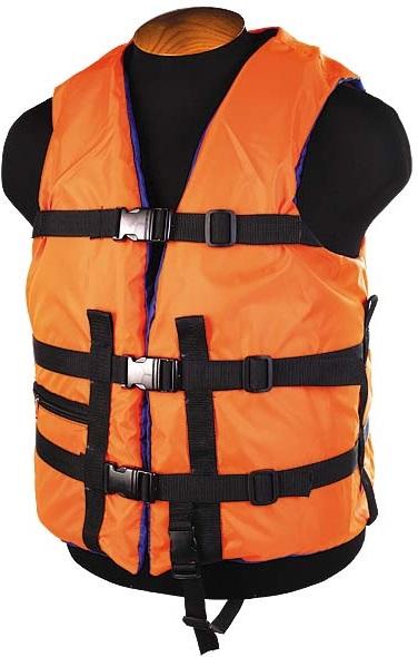 Жилет страховочный SM-026 до 80кг, размер (44-48) оранжевый
