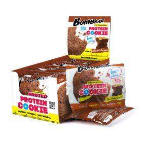 Низкокалорийное протеиновое печенье от Bombbar ШОКОЛАДНЫЙ БРАУНИ 40 гр