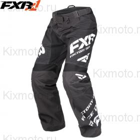 Брюки FXR Сold Сross Race Ready - Black/White мод. 2018