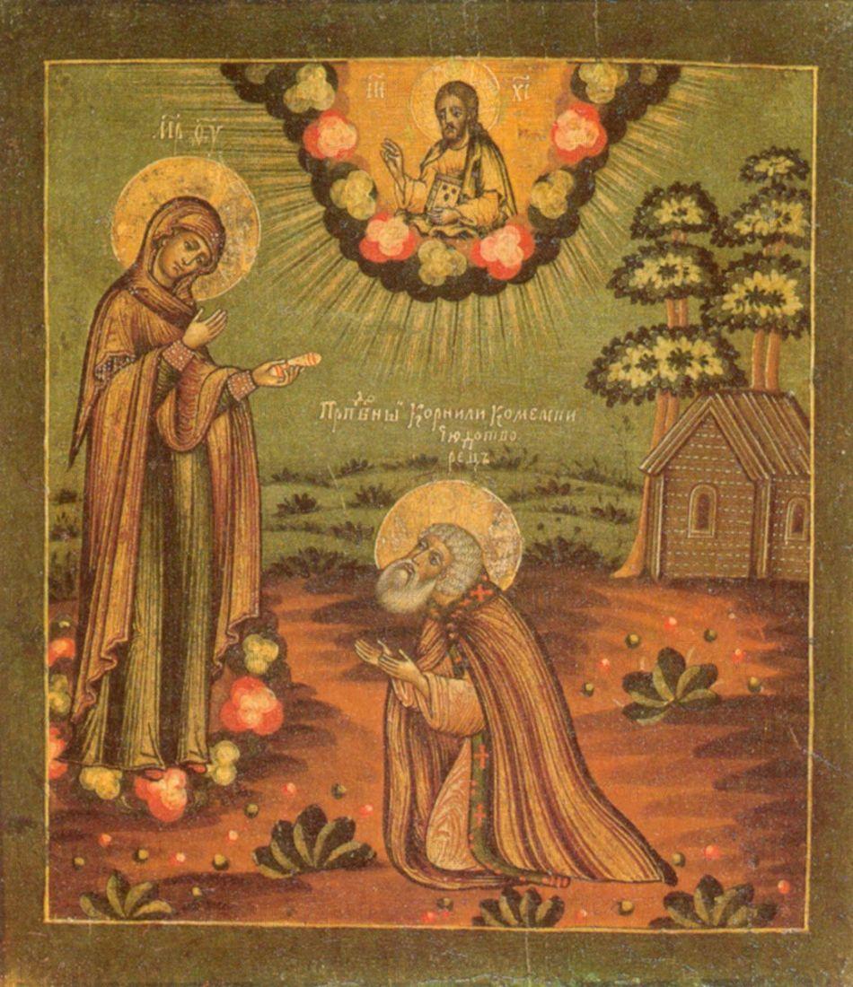Икона Корнилий Комельский преподобный
