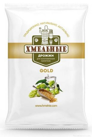 Спиртовые дрожжи «Хмельные» GOLD, 100 гр
