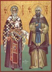 Икона Святые равноапостольные Мефодий и Кирилл учители словенские