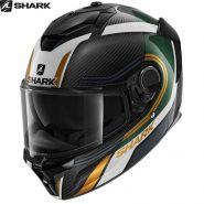 Мотошлем  Shark Spartan GT Carbon Tracker, Черно-бело-желтый