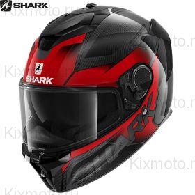 Шлем Shark Spartan GT Carbon Shestter, Чёрно-красный