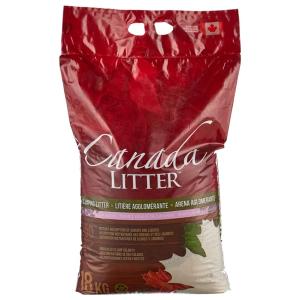 Комкующийся наполнитель Canada Litter Scoopable Lavender с ароматом лаванды 18 кг