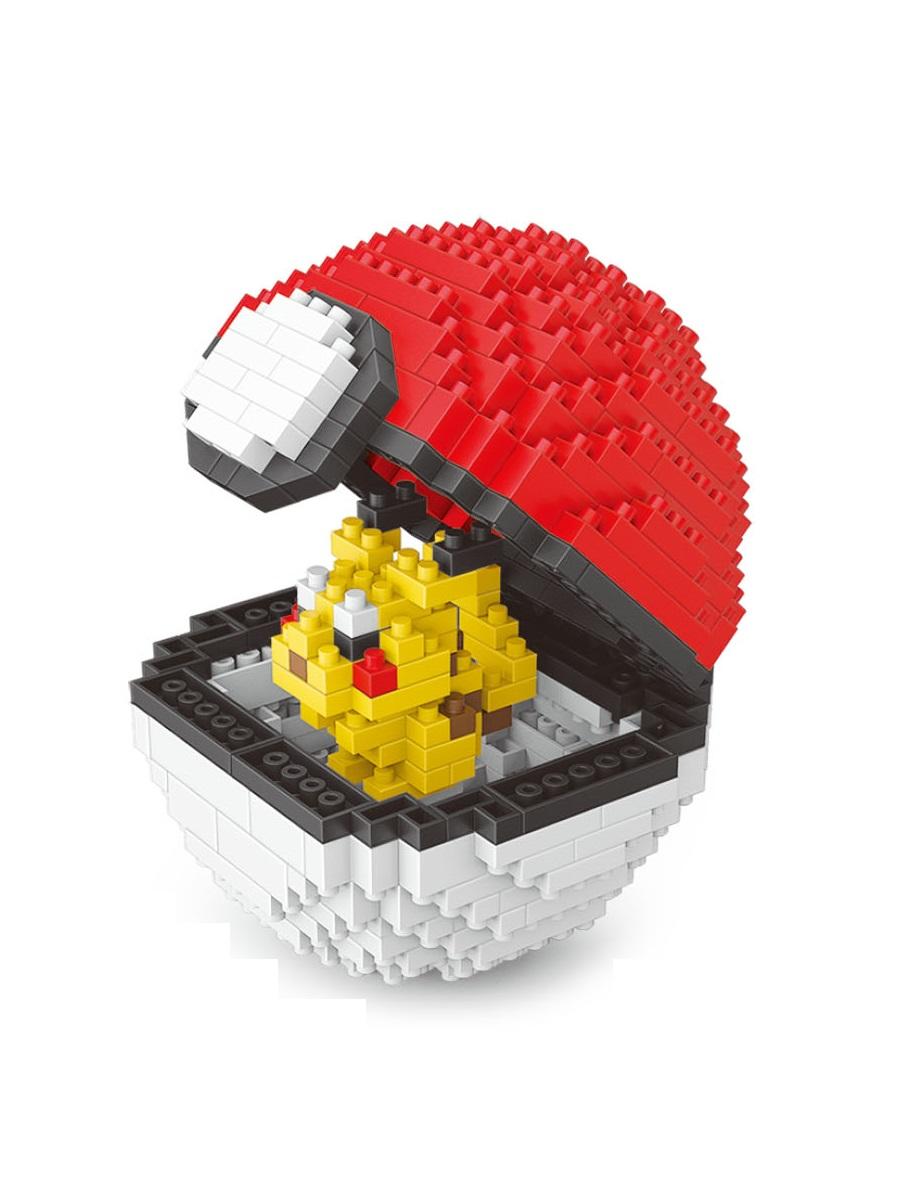 Конструктор Wisehawk & LNO покемон бол Пикачу покебол 397 деталей NO. 2532 Pikachu Pokemon ball Series