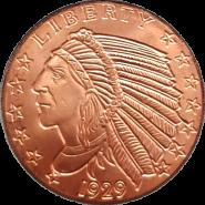 США Голова индейца инкуз медь 1 унция инвестиционный слиток