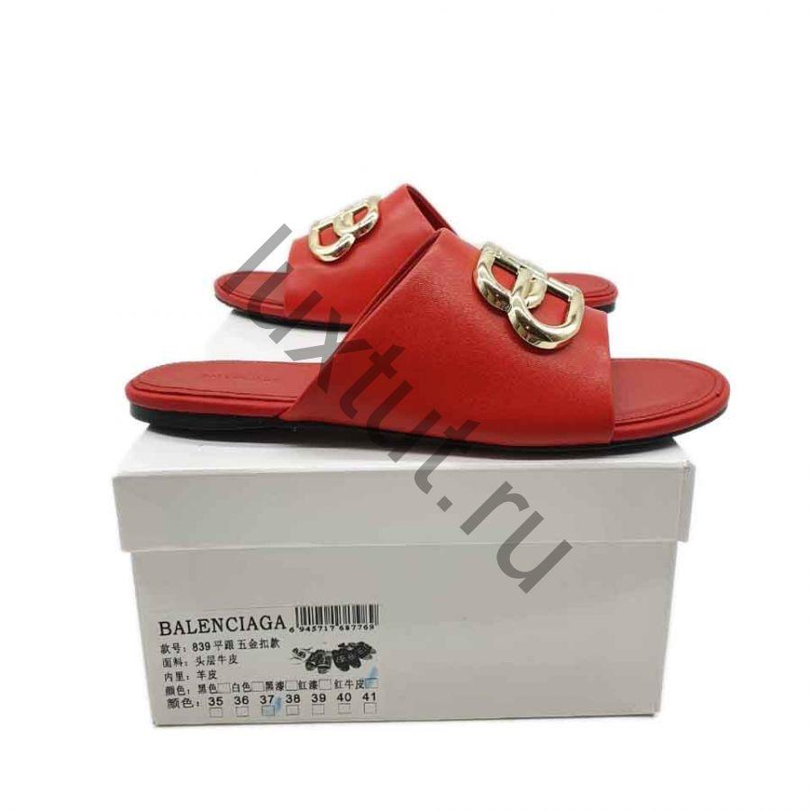 Шлепки Balenciaga красные