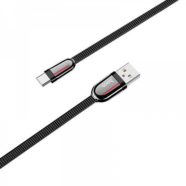 Кабель USB 3А HOCO U74 Черный (TYPE C) 1.2м