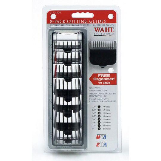 Набор насадок # 1-8, черные с кассетой для хранения Wahl 3170-517