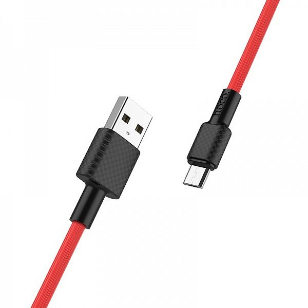 Кабель USB 2А HOCO X29 Красный (microUSB) 1м