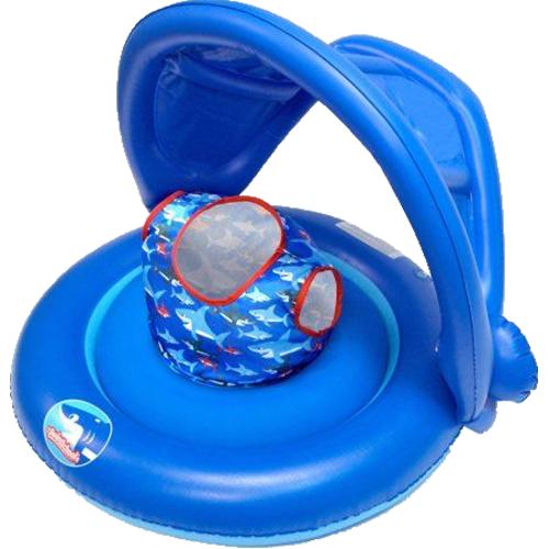 Универсальный надувной круг с навесом 2-in-1 Baby Boat (для мальчиков).