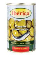 Оливки IBERICA С анчоусом, 350 г