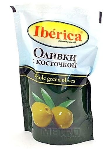 Оливки IBERICA с косточкой, 170г