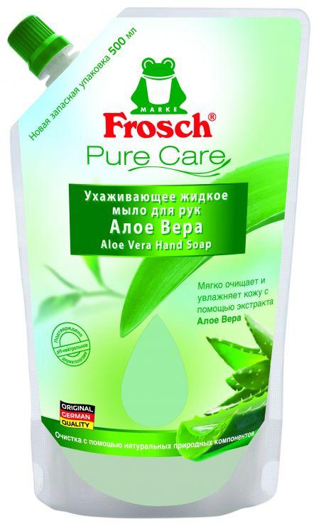Frosch Ухаживающее мыло для рук Алоэ вера запасной блок 0,5 л