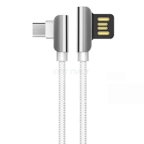 Кабель USB 2.4А HOCO U42 Белый (microUSB) 1.2м