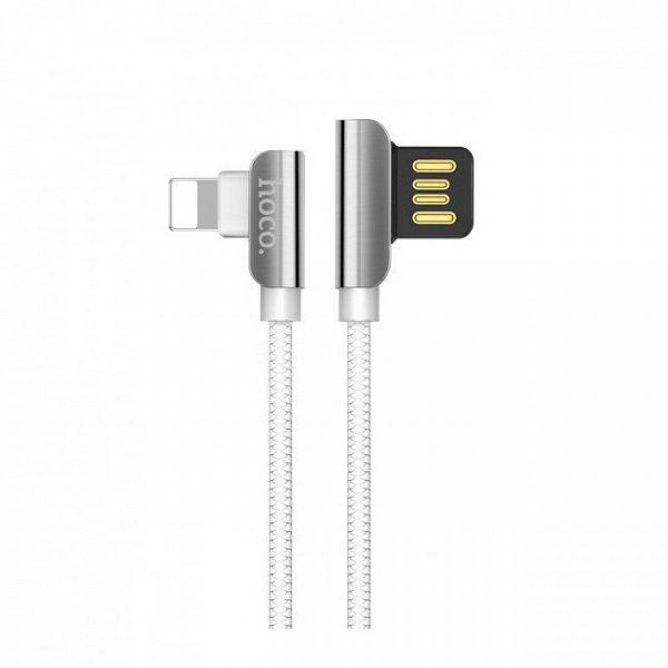 Кабель USB 2.4А HOCO U42 Белый (iOS Lighting) 1.2м
