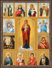 Икона Собор с Валаамской Богородицей