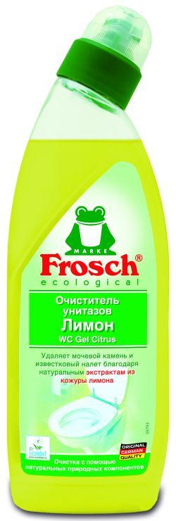 Frosch Лимонный очиститель унитазов 0,75 л