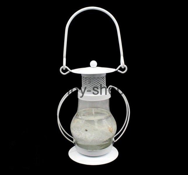 Гелевая свеча Керосиновая Лампа (белая), 13 см