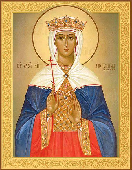 Икона Святая мученица княгиня Людмила Чешская
