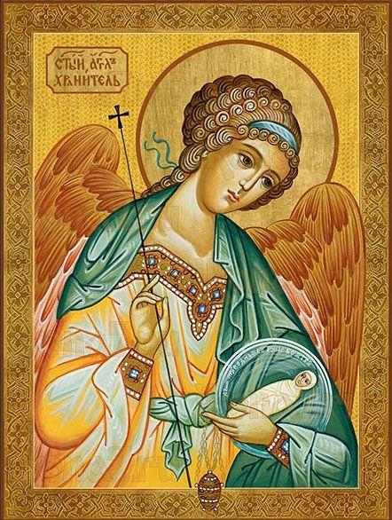 Икона Ангел-хранитель с младенцем