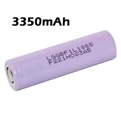 Аккумулятор LG F1L 18650 3350мАч без защиты, стреднетоковый до 4.87A