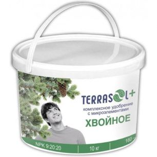 Удобрение сухое Террасол минеральное Хвойное с микроэлементами ведро 10 кг - все для сада, дома и огорода!