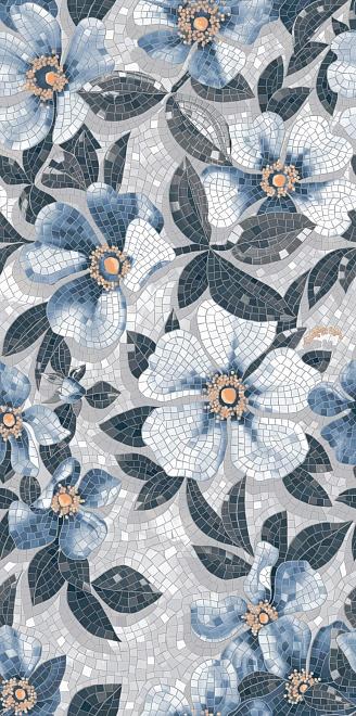 SG591002R   Розелла синий декорированный лаппатированный