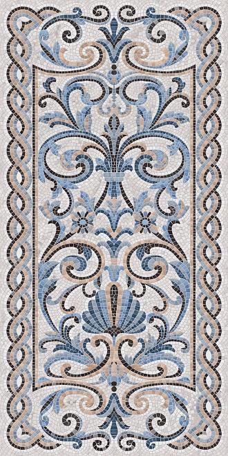 SG590902R   Мозаика синий декорированный лаппатированный