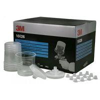3М Набор PPS (стаканы-50, крышки со встроенным фильтром 125 мкм-50, колпачки-25) 600 мл.