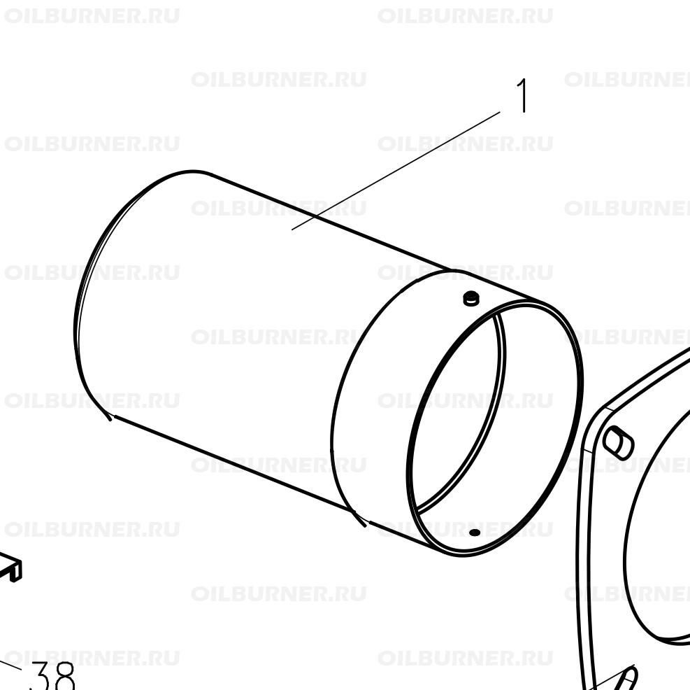 Горелочная труба GU55 арт. 37-90-12112