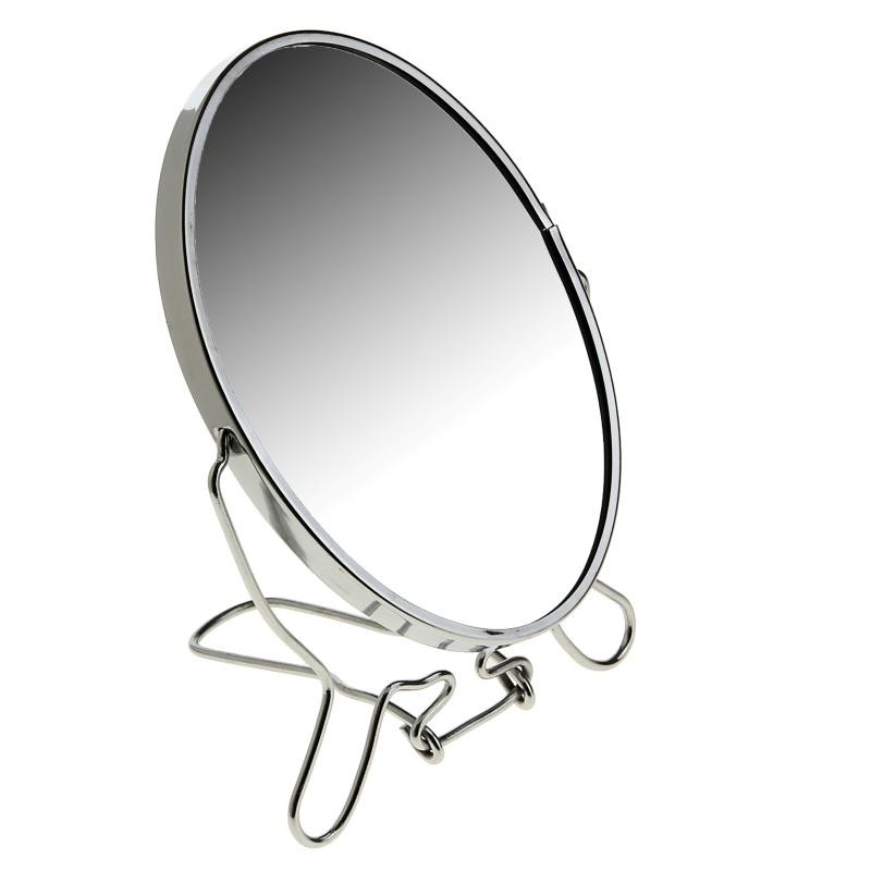 Зеркало настольное двухстороннее с увеличением, 11 см