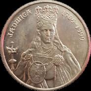 100 злотых Польша 1988 - Королева Ядвига (Jadwiga) 1384-1399