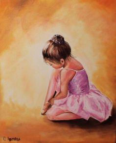 Алмазная мозаика «Балерина малышка» 30x40 см