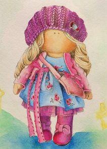 Алмазная мозаика «Кукла Ника» 30x40 см