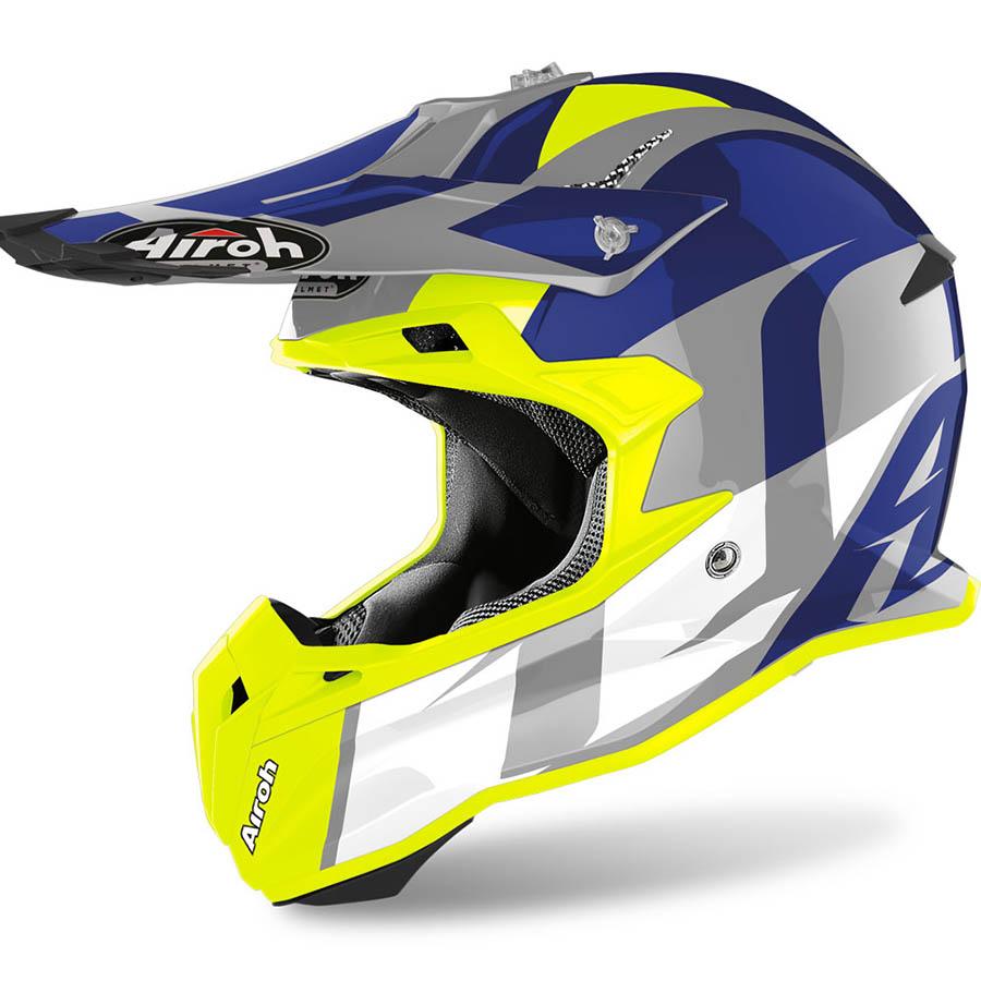 Airoh Terminator Open Vision Shot Blue Gloss шлем внедорожный