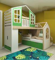 Кровать двухъярусная Домик Fantasy, любые размеры