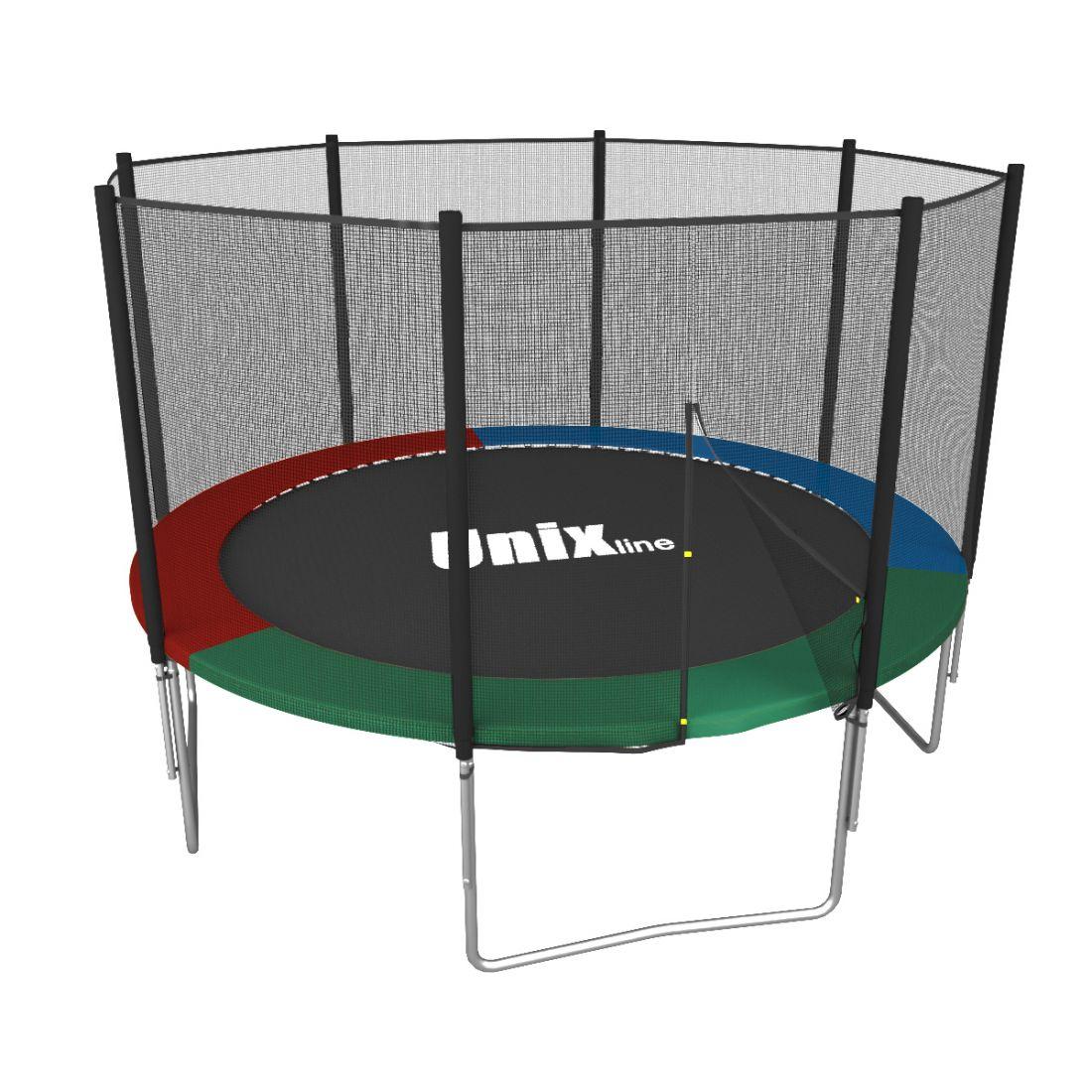 Батут Unix line Simple 8 ft Color/Green (outside)